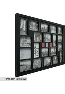 Painel Para 20 Fotos- Preto- 54X84X3Cm- Kaposkapos