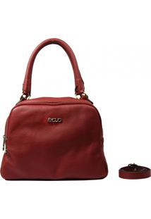 Bolsa Em Couro Recuo Fashion Bag Baú Vinho
