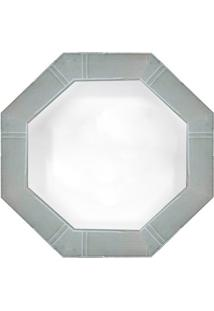 Espelho Oitavado- Espelhado & Cinza- 40X40X3Cm- Art Frame