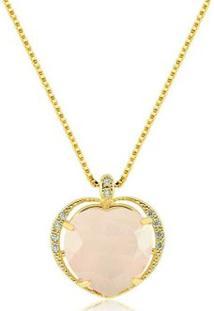 Colar Toque De Joia Coração Imperial Ouro Amarelo - Feminino-Dourado