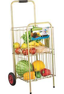 Carrinho De Feira Super Reforçado Para Compras Frutas Verduras Big
