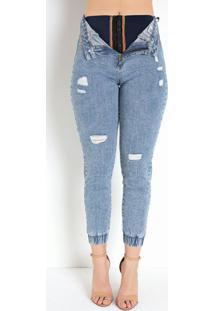 Calça Jeans Clara Super Lipo Jogger Sawary