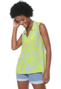 Camisa Morena Rosa Amarração Verde