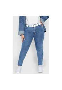 Calça Jeans Sawary Skinny Lisa Azul