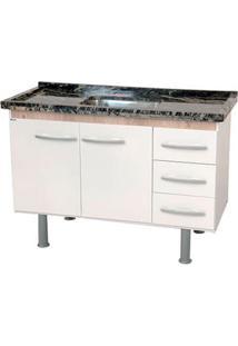 Gabinete De Cozinha Sonic 117,4X55Cm Branco E Madeirado Bonatto
