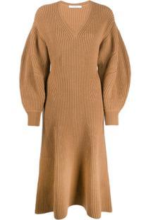 Givenchy Vestido Decote V - Marrom