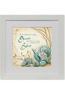 Quadro Floral Ii Kapos Branco 23X23Cm