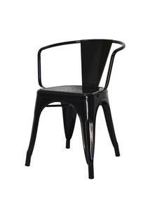 Cadeira Iron Tolix Com Braco Com Pintura Epoxi Preta - 46894 Preto