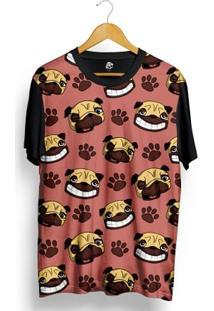Camiseta Bsc Pug Paw Full Print - Masculino