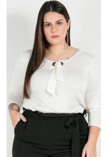 Blusa Plus Size Begecom Detalhe De Amarração