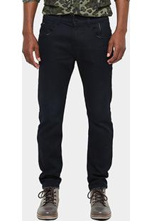 Calça Jeans Skinny Ellus 2Nd Floor Índigo Resinada Masculina - Masculino
