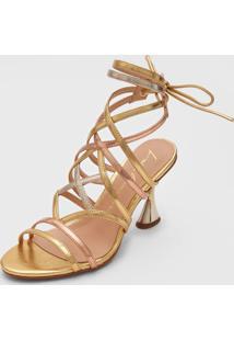 Sandália Luiza Barcelos Metalizada Dourada