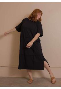 Vestido Overlouco Plus Size Pretog Preto