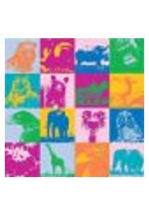 Papel De Parede Adesivo Animais Coloridos 1395 Rolo 0,58X3M