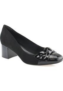 Sapato Feminino Laço Salto Médio Grosso Ramarim 1884105
