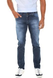 Calça Jeans Aramis Reta Stretch Azul