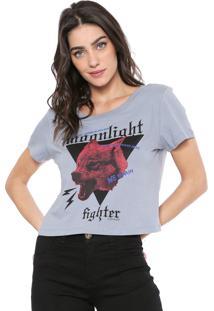 Camiseta Cropped Osmoze Lobo Cinza
