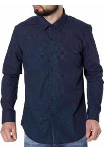 Camisa Crocker Manga Longa Masculina - Masculino-Marinho