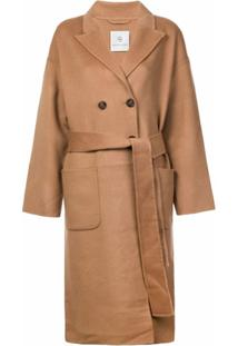 Anine Bing Belted Double-Breasted Coat - Neutro