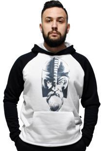 Blusa Moletom Viking C/ Capuz E Bolso Hardcore Line - Viking