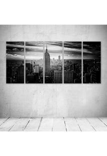 Quadro Decorativo - Black City - Composto De 5 Quadros - Multicolorido - Dafiti