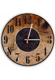Relógio De Parede Decorativo Vintage Madeira 35Cm Médio