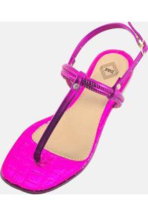 Sandália Feminina Rasteira Flat Delas & Elas Basica Flat Estilo Pink