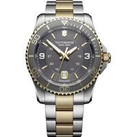 ae8379934b8 Relógio Victorinox Swiss Army Masculino Aço Prateado E Dourado - 24912
