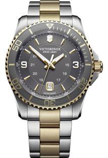 5a1fb1ec85b Vivara. Relógio Aço Inox Masculino Victorinox Dourado ...