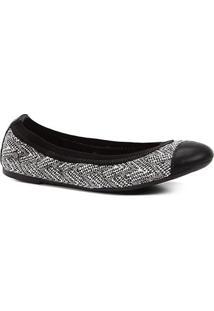 Sapatilha Shoestock Elástico Feminina - Feminino-Branco+Preto