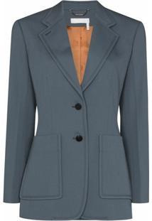 Chloé Blazer Com Abotoamento Simples - Azul