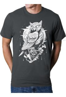 Camiseta Hshop Coruja Cinza