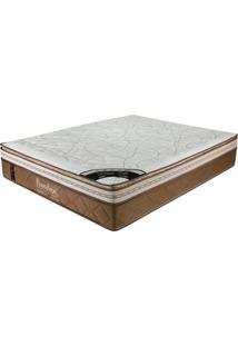 Colchão Queen 198X158X36 Latex Soft Gel Pillow Top -Prorelax - Bege / Marrom
