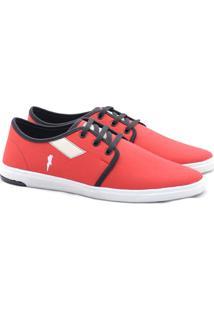 Sapatênis Polo Blu - Masculino-Vermelho
