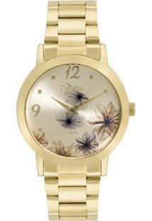 ca0f11420c0 Zattini. Relógio Dourado Feminino Unissex Condor Vidro ...