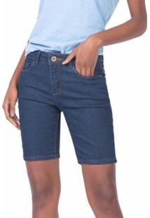 Bermuda Jeans Lycra Básica Stone Feminino - Feminino