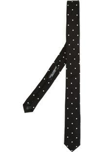 Dolce & Gabbana Gravata Slim Com Poás - Preto
