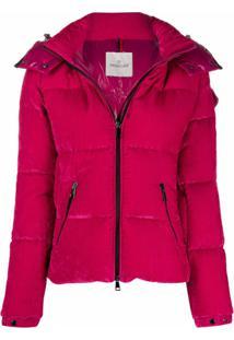 Moncler Velvet Puffer Jacket - Rosa