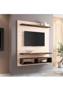 Painel Para Tv 50 Polegadas Life Off White E Deck 136 Cm