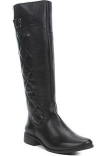 Bota Montaria Shoestock Couro Matelassê Feminina - Feminino