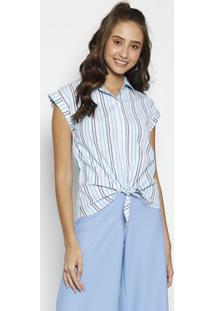 Camisa Listrada - Azul & Branca - Moisellemoisele