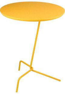 Mesa Apoio Babel Tampo Laqueado Amarelo 40 Cm (Larg) - 48844 - Sun House