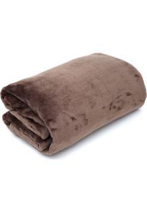 Cobertor Solteiro Camesa Velour Microfibra Neo Marrom