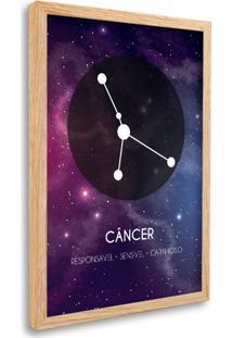 Quadro Signos Câncer Zodíaco Horóscopo Natural E Vidro Decorativo Oppen House