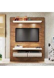 Painel Para Tv Tb106E 100% Mdf Nobre/Off White Com Espelho - Dalla Costa