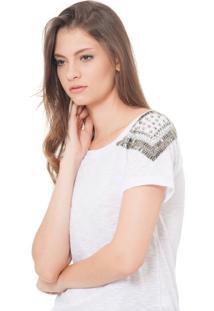Camiseta Urban96 Branca Bordada