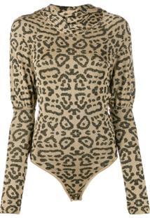 Giuseppe Di Morabito Animal Jacquard-Knit Bodysuit - Dourado