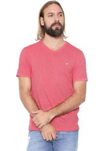 Camiseta Malwee Listrada Vermelha/Branca