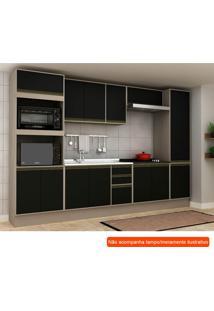 Cozinha Compacta Safira 13 Pt 3 Gv Preta E Creme