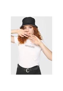 Blusa Calvin Klein Jeans Lettering Branca